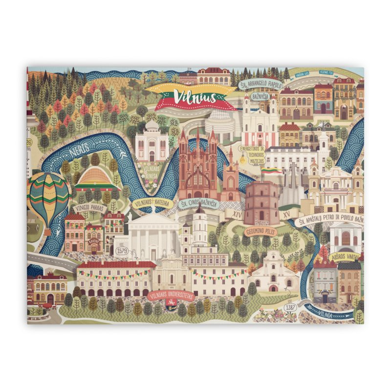 Vilnius, the capital of Lithuania Home Stretched Canvas by dnipro's Artist Shop