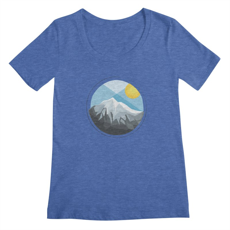 Summer Summit Women's Scoopneck by dnvr's Shop