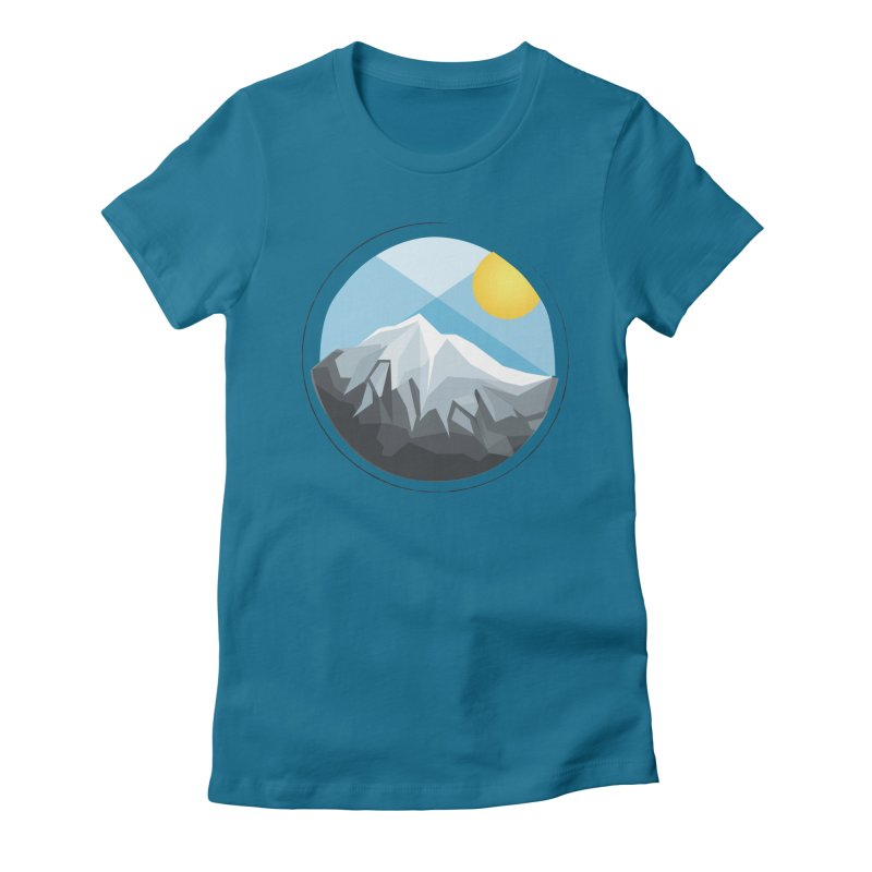 Summer Summit Women's Fitted T-Shirt by dnvr's Shop