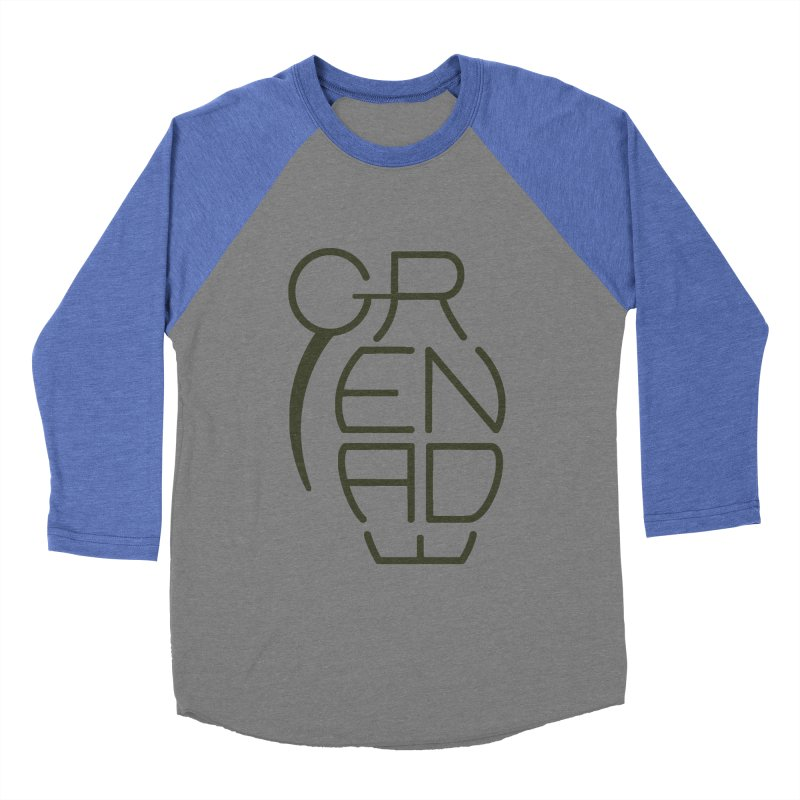 Grenade Men's Baseball Triblend T-Shirt by dnvr's Shop