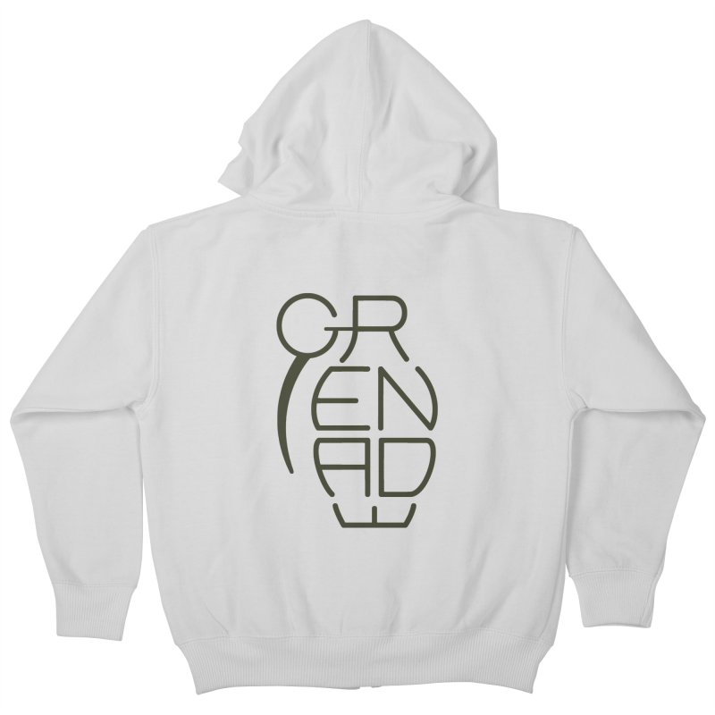 Grenade Kids Zip-Up Hoody by dnvr's Shop