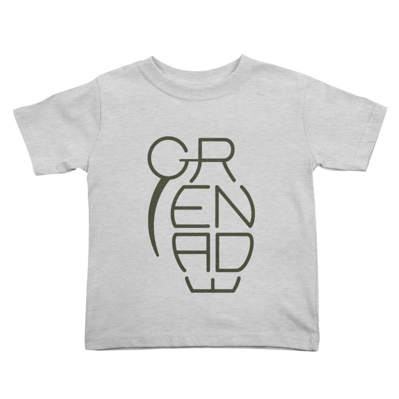 Grenade Kids Toddler T-Shirt by dnvr's Shop
