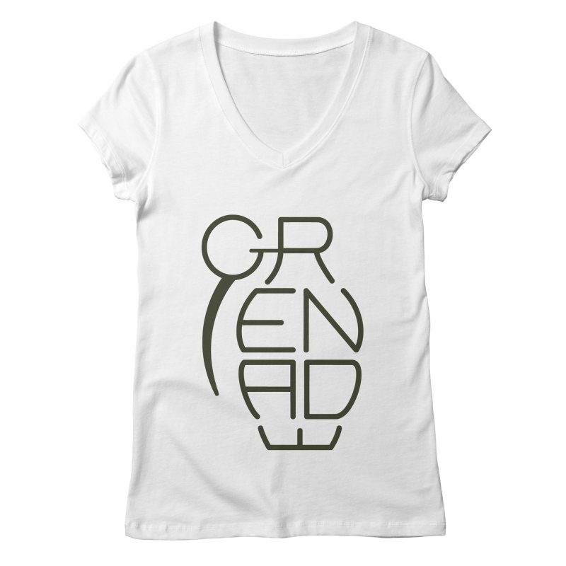 Grenade Women's V-Neck by dnvr's Shop