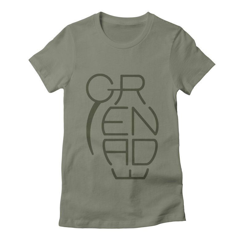 Grenade Women's Fitted T-Shirt by dnvr's Shop