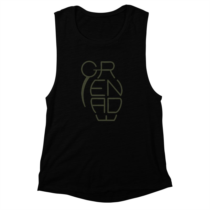 Grenade Women's Muscle Tank by dnvr's Shop