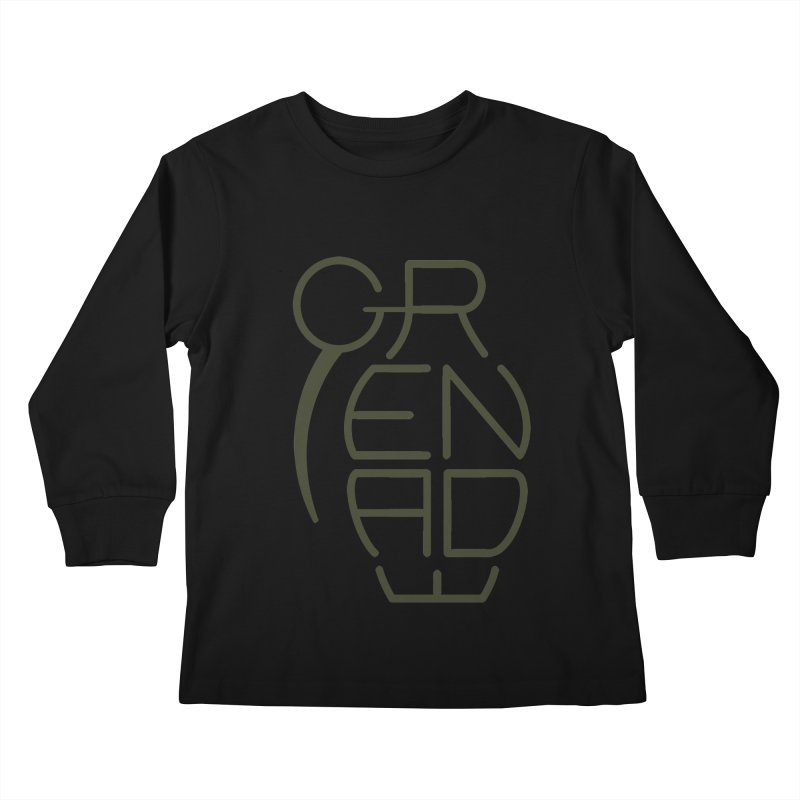 Grenade Kids Longsleeve T-Shirt by dnvr's Shop