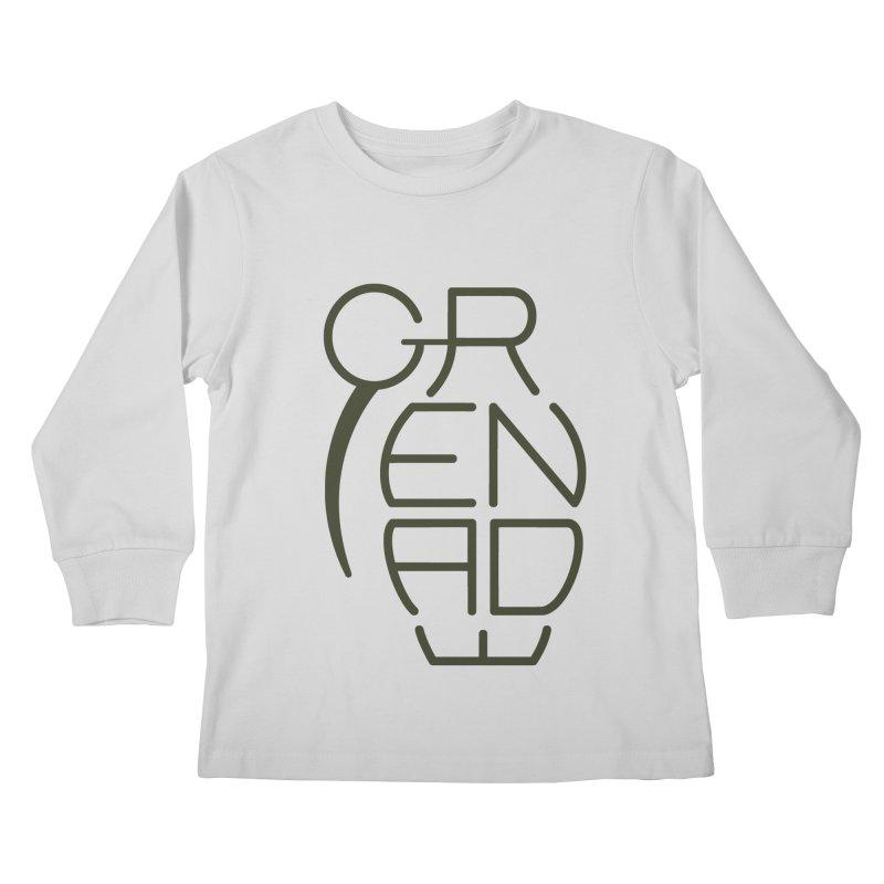 Grenade Kids Longsleeve T-Shirt by dnvr's Shop