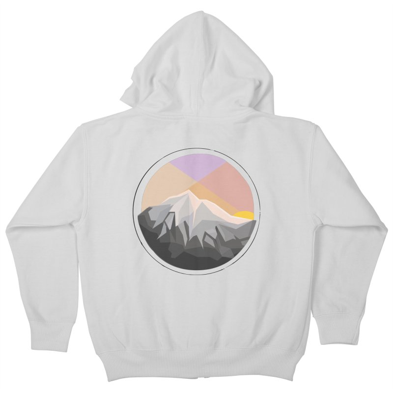 Summer Sunset Kids Zip-Up Hoody by dnvr's Shop