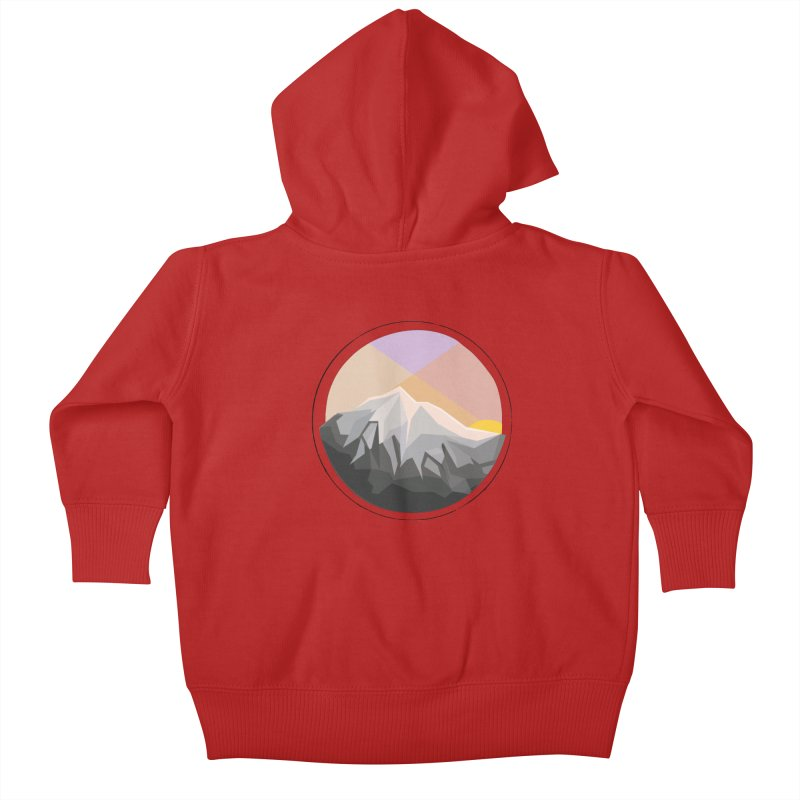 Summer Sunset Kids Baby Zip-Up Hoody by dnvr's Shop
