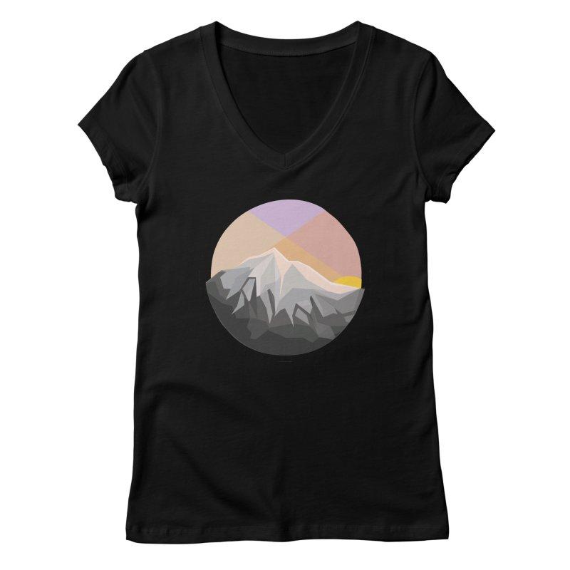 Summer Sunset Women's V-Neck by dnvr's Shop
