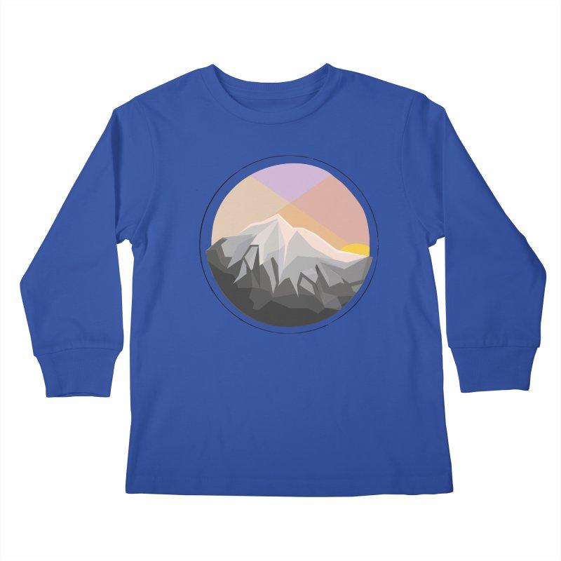 Summer Sunset Kids Longsleeve T-Shirt by dnvr's Shop