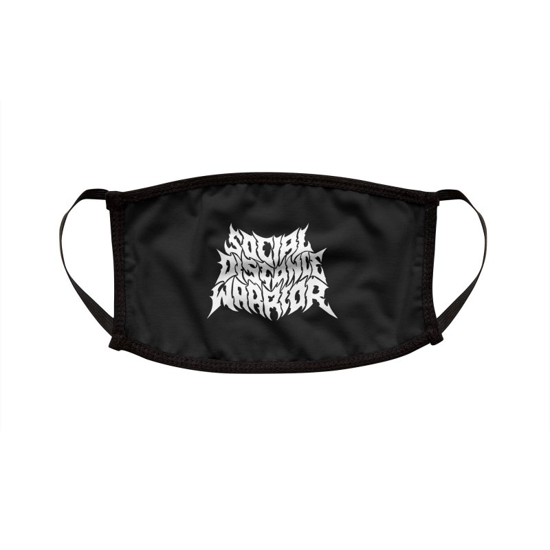 SOCIAL DISTANCE WARRIOR Accessories Face Mask by Doctor Popular's Shop