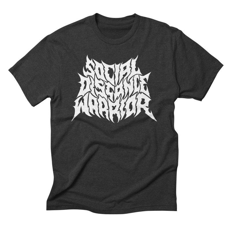 SOCIAL DISTANCE WARRIOR Men's T-Shirt by Doctor Popular's Shop