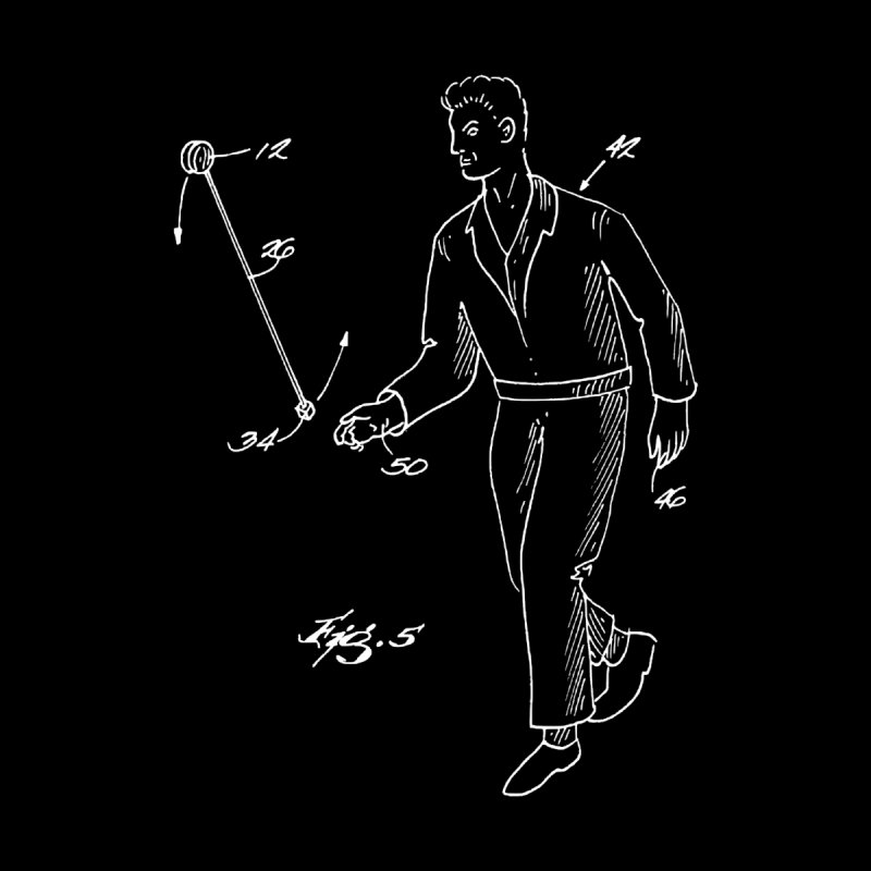 Freehand Yo-Yo Patent Art (aerial) Kids Pullover Hoody by Doctor Popular's Shop