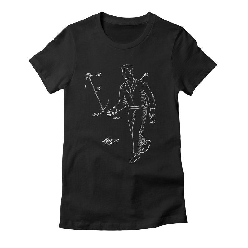Freehand Yo-Yo Patent Art (aerial) Women's T-Shirt by Doctor Popular's Shop