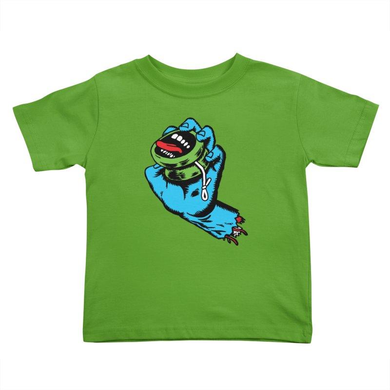Screaming Yo-Yo Hand Kids Toddler T-Shirt by Doctor Popular's Shop