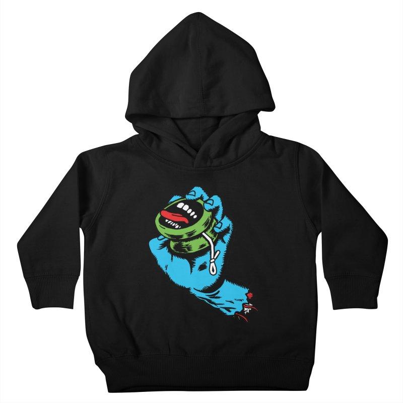 Screaming Yo-Yo Hand Kids Toddler Pullover Hoody by Doctor Popular's Shop
