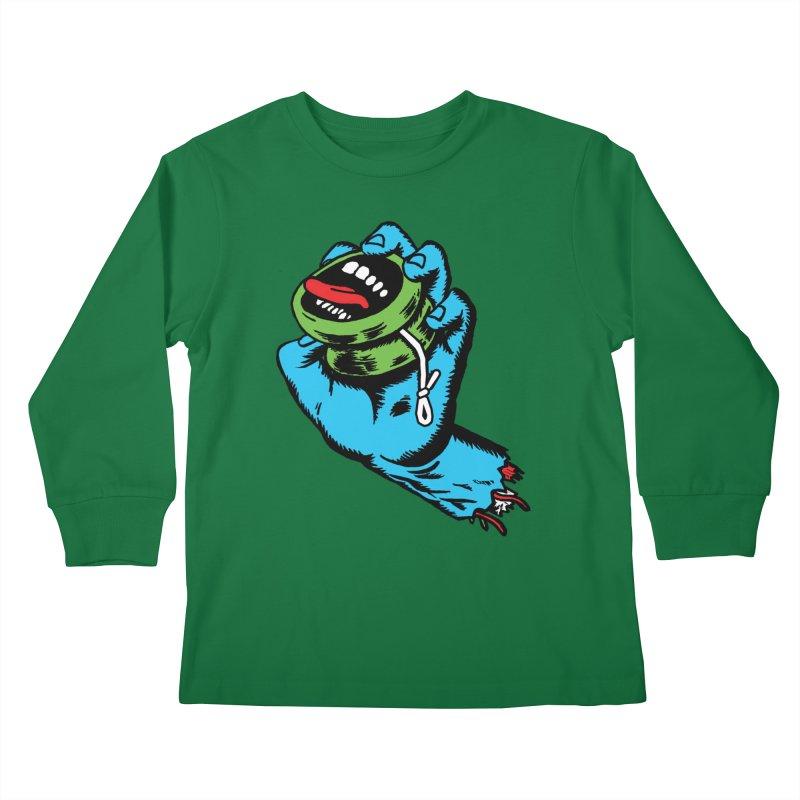 Screaming Yo-Yo Hand Kids Longsleeve T-Shirt by Doctor Popular's Shop
