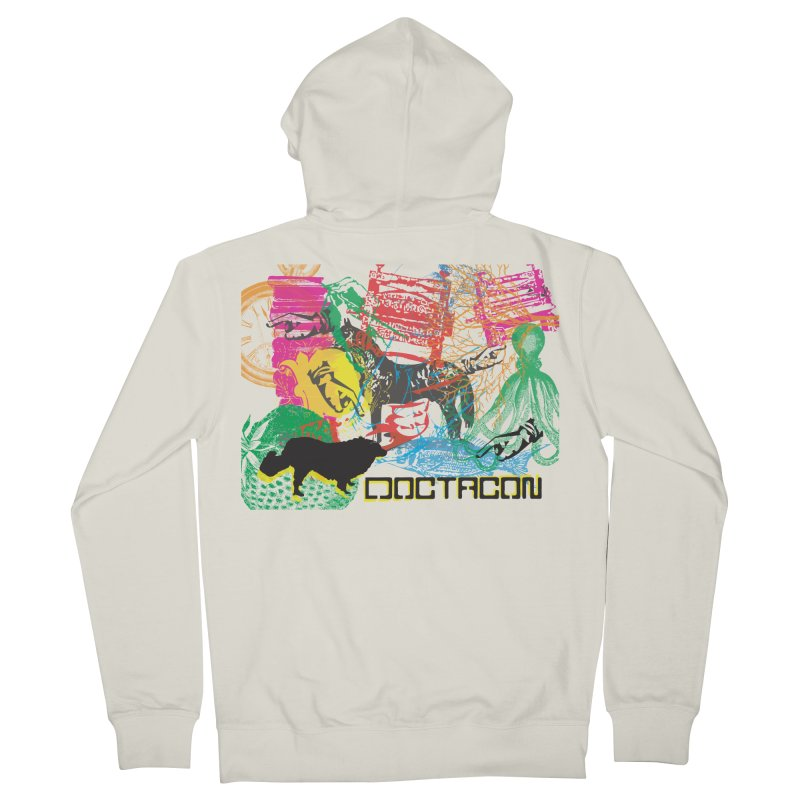Vintage Logo Men's Zip-Up Hoody by Doctacon's Artist Shop