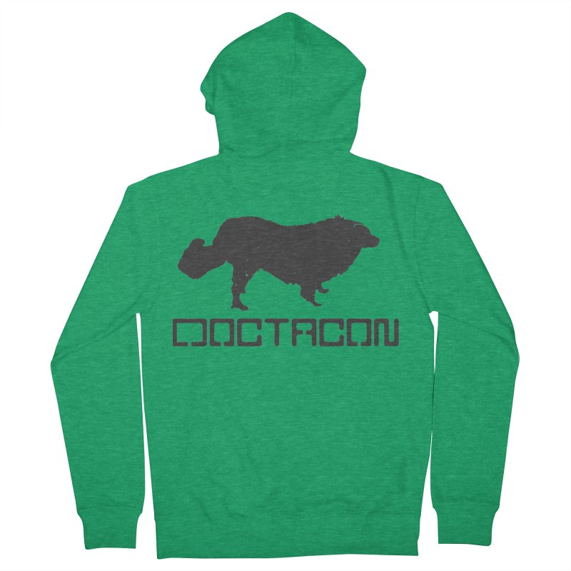 Distressed Logo Men's Zip-Up Hoody by Doctacon's Artist Shop