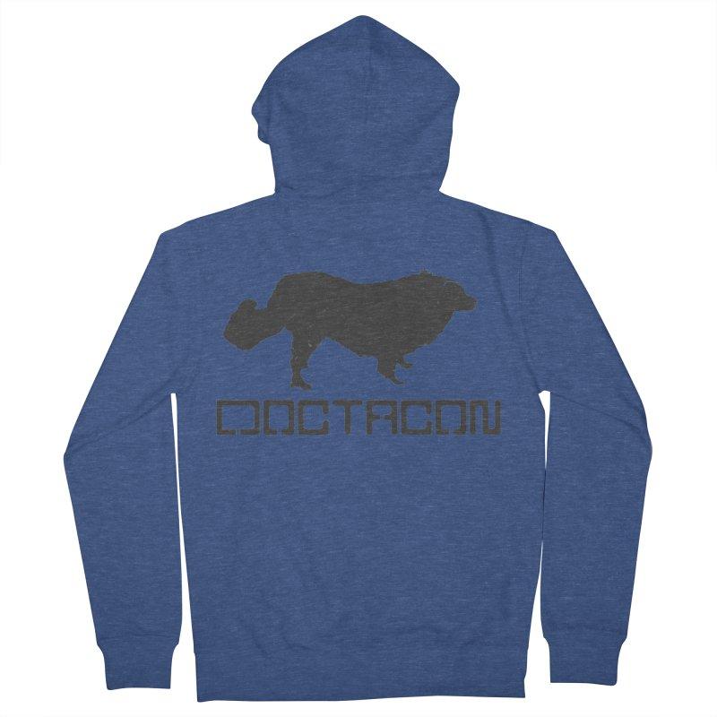 Distressed Logo Men's Zip-Up Hoody by Doctacon's Artist Shop