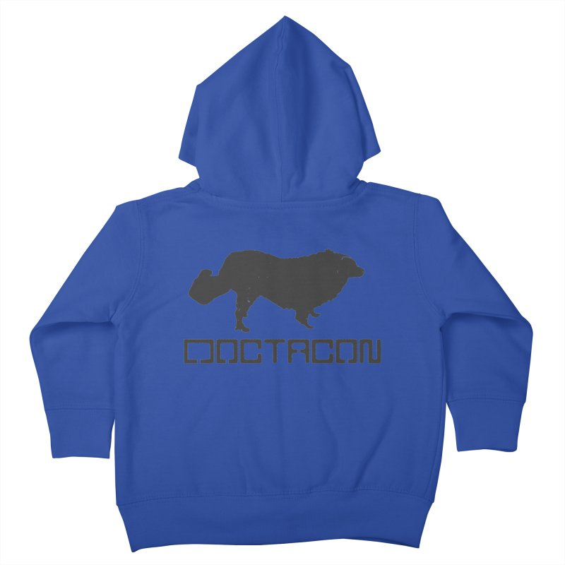 Distressed Logo Kids Toddler Zip-Up Hoody by Doctacon's Artist Shop