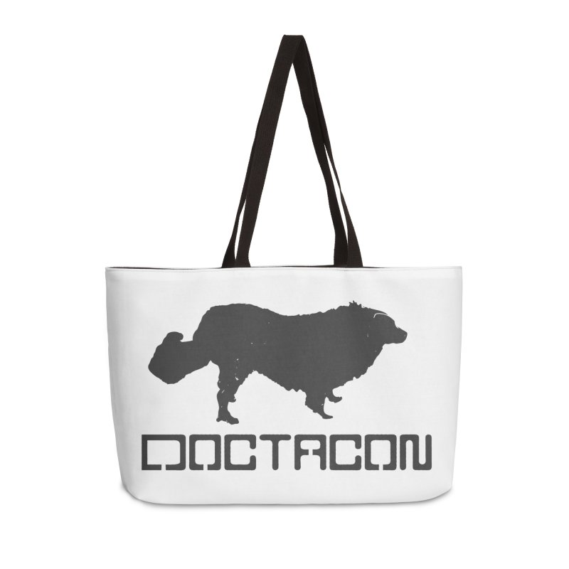 Distressed Logo Accessories Weekender Bag Bag by Doctacon's Artist Shop