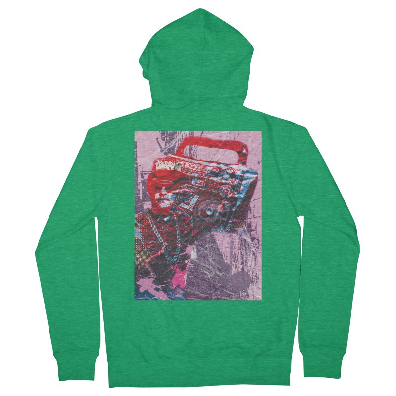 Boombox Men's Zip-Up Hoody by Doctacon's Artist Shop