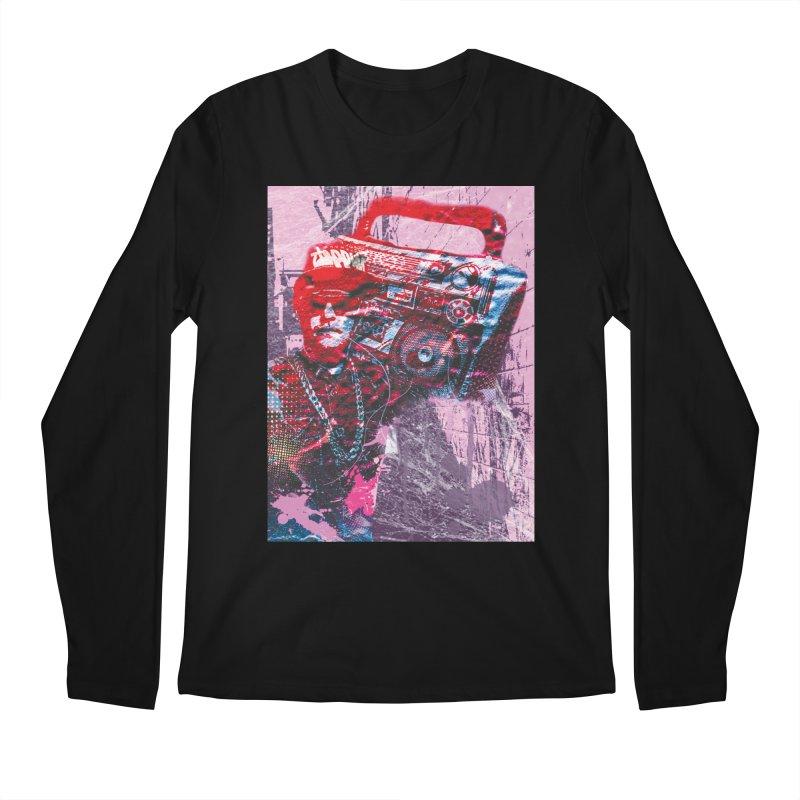 Boombox Men's Regular Longsleeve T-Shirt by Doctacon's Artist Shop