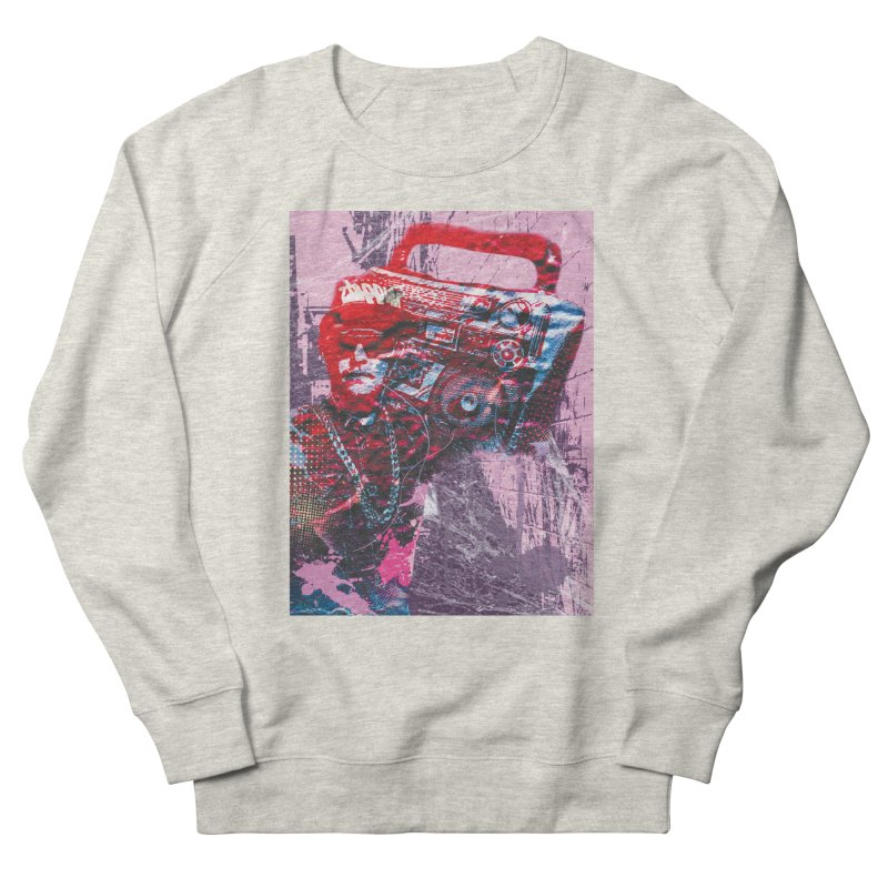 Boombox Men's French Terry Sweatshirt by Doctacon's Artist Shop