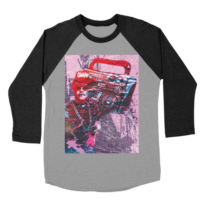 Boombox Women's Baseball Triblend Longsleeve T-Shirt by Doctacon's Artist Shop
