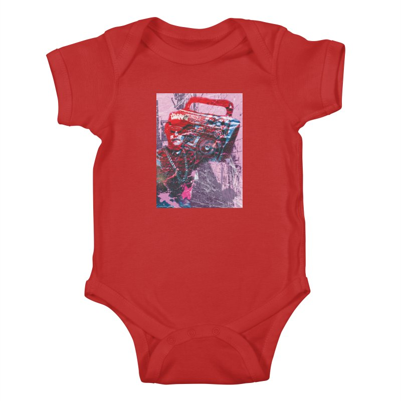 Boombox Kids Baby Bodysuit by Doctacon's Artist Shop
