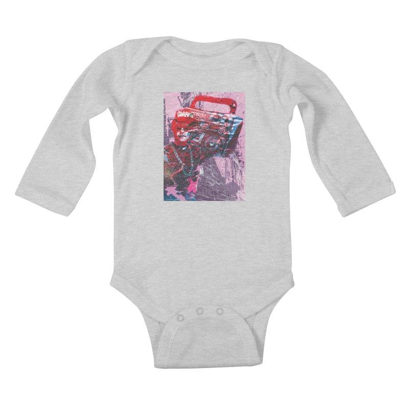 Boombox Kids Baby Longsleeve Bodysuit by Doctacon's Artist Shop