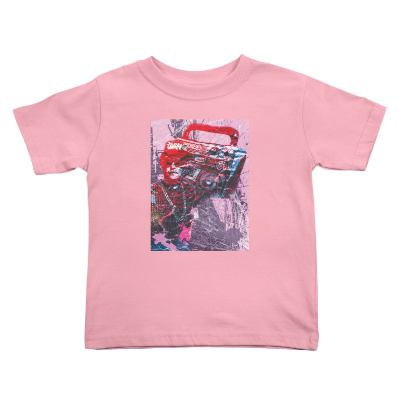 Boombox Kids Toddler T-Shirt by Doctacon's Artist Shop