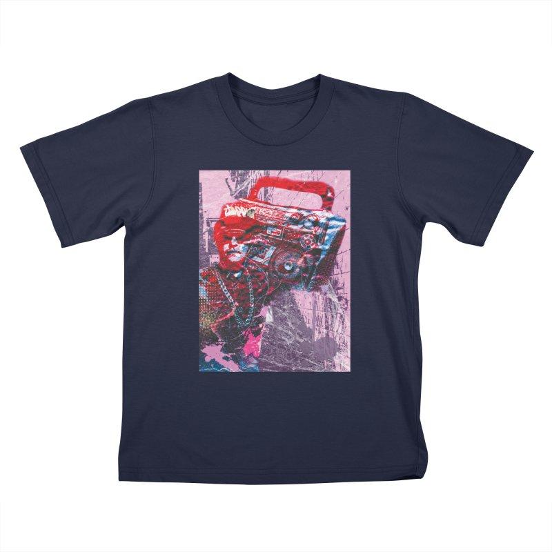 Boombox Kids T-Shirt by Doctacon's Artist Shop
