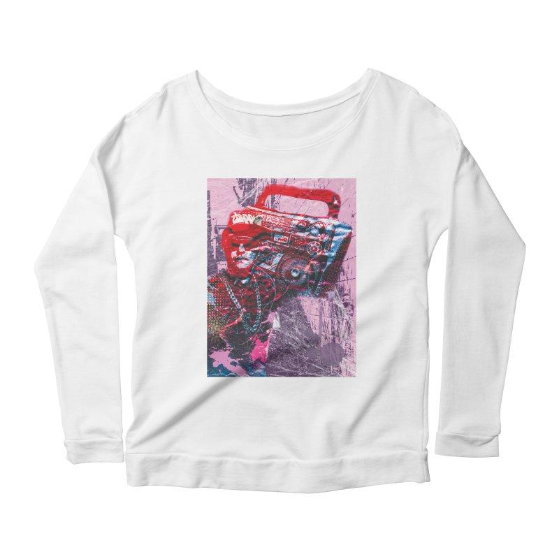 Boombox Women's Scoop Neck Longsleeve T-Shirt by Doctacon's Artist Shop