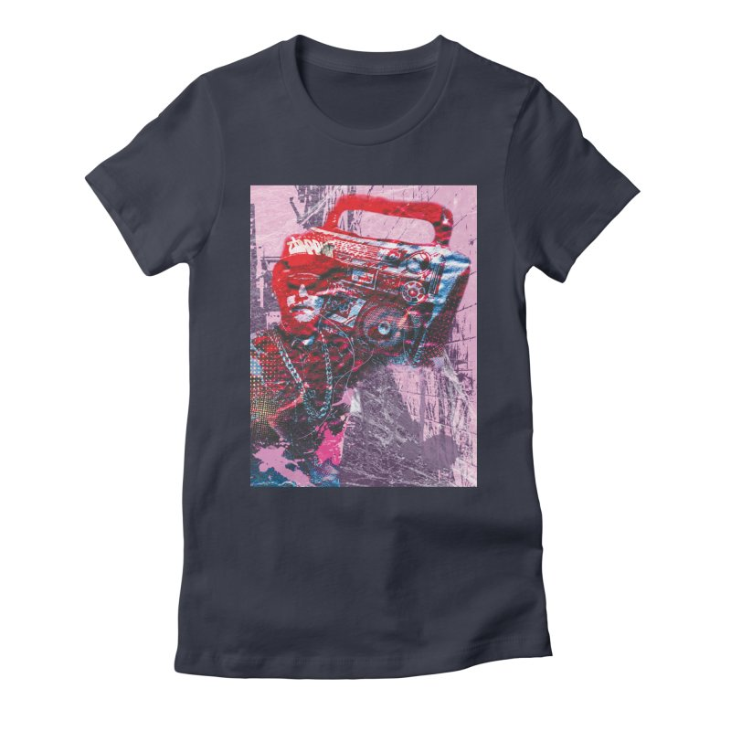 Boombox Women's Fitted T-Shirt by Doctacon's Artist Shop