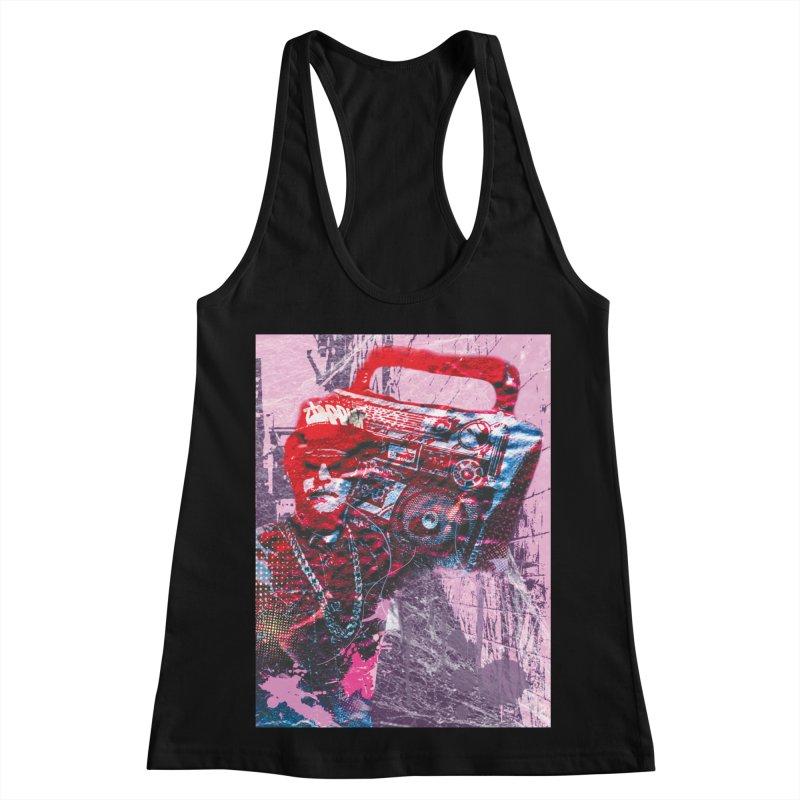 Boombox Women's Racerback Tank by Doctacon's Artist Shop