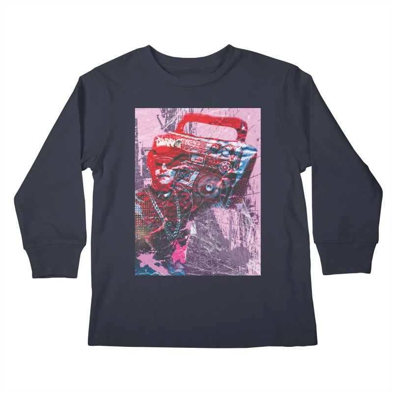 Boombox Kids Longsleeve T-Shirt by Doctacon's Artist Shop
