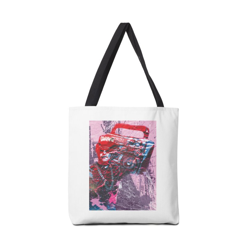 Boombox Accessories Tote Bag Bag by Doctacon's Artist Shop