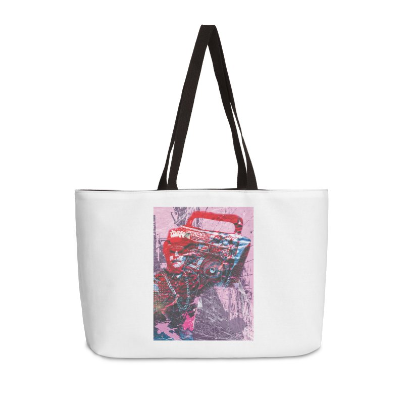 Boombox Accessories Weekender Bag Bag by Doctacon's Artist Shop
