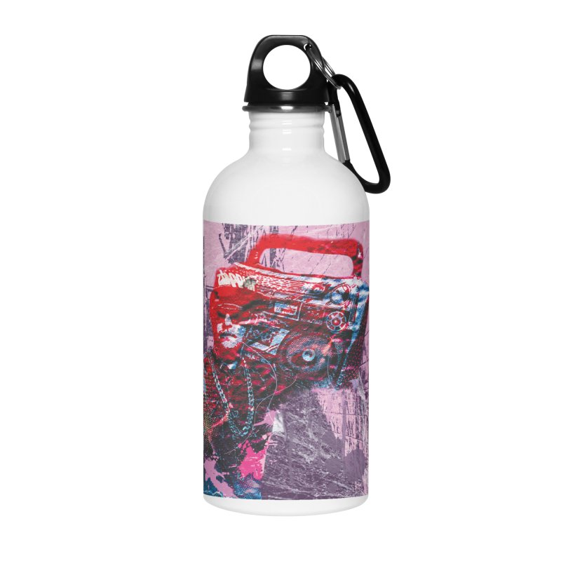 Boombox Accessories Water Bottle by Doctacon's Artist Shop