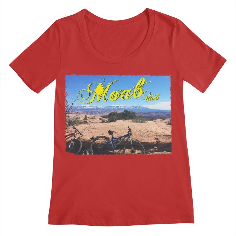 Moab Bliss Women's Regular Scoop Neck by Doctacon's Artist Shop