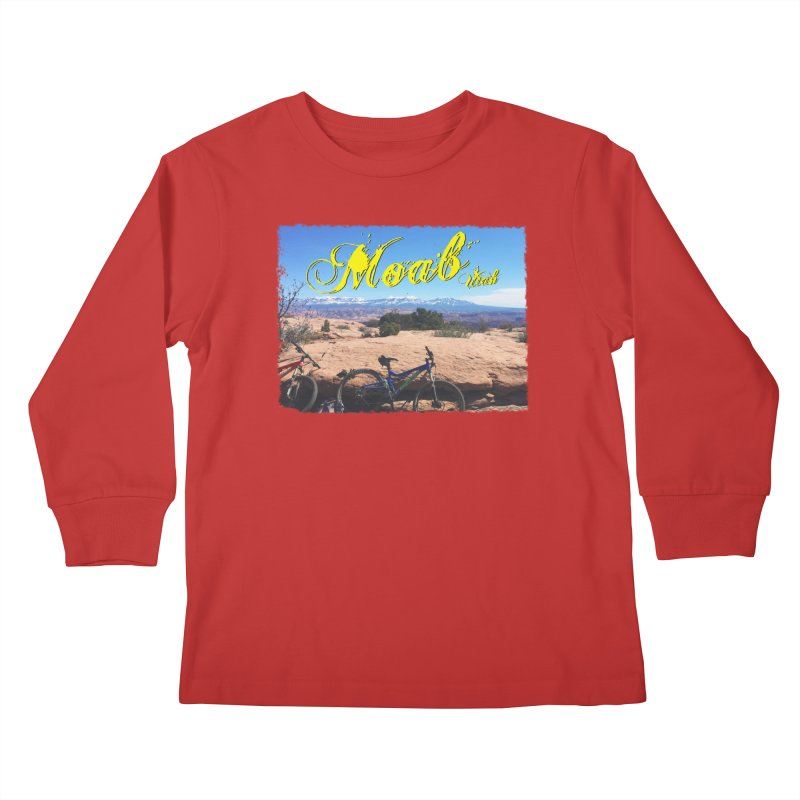 Moab Bliss Kids Longsleeve T-Shirt by Doctacon's Artist Shop