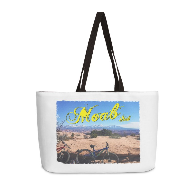 Moab Bliss Accessories Weekender Bag Bag by Doctacon's Artist Shop