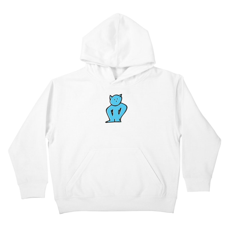 Dusty Cartoon Blue Kids Pullover Hoody by Doctacon's Artist Shop