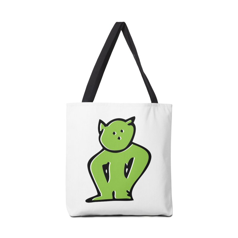 Dusty Cartoon Green Accessories Bag by Doctacon's Artist Shop