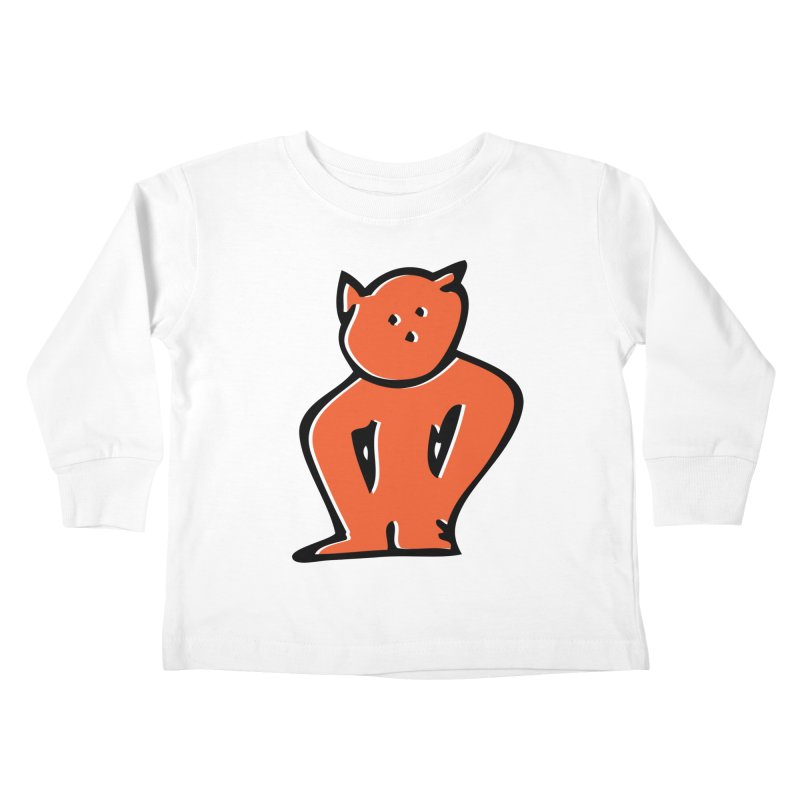 Dusty Cartoon Red Kids Toddler Longsleeve T-Shirt by Doctacon's Artist Shop