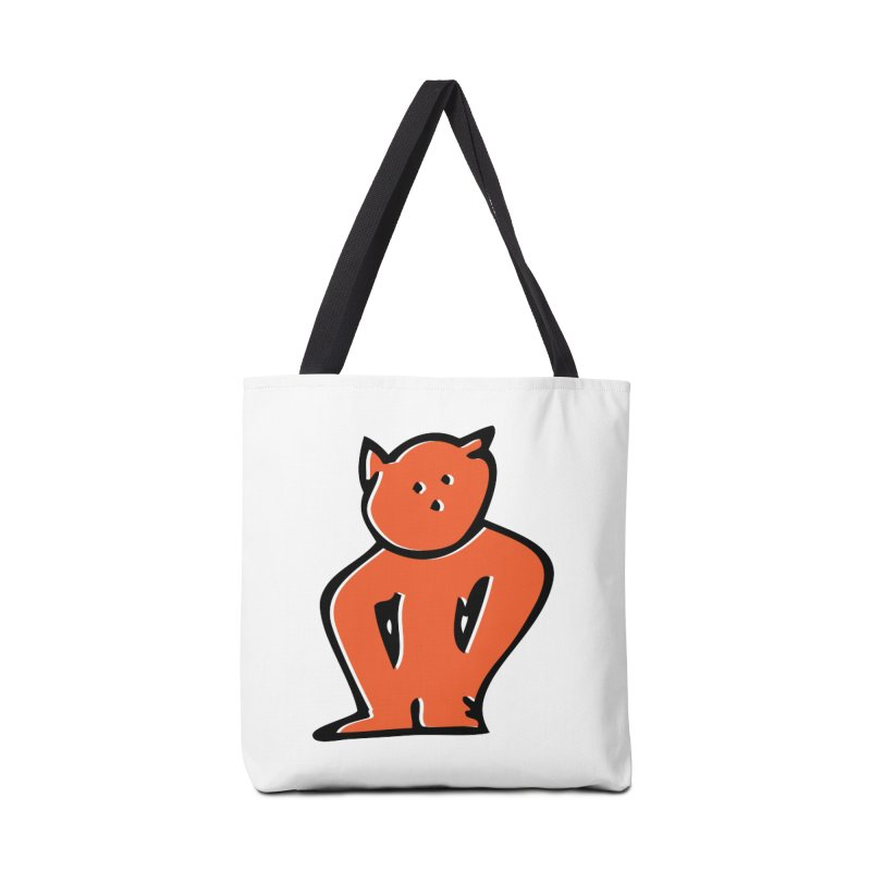 Dusty Cartoon Red Accessories Bag by Doctacon's Artist Shop
