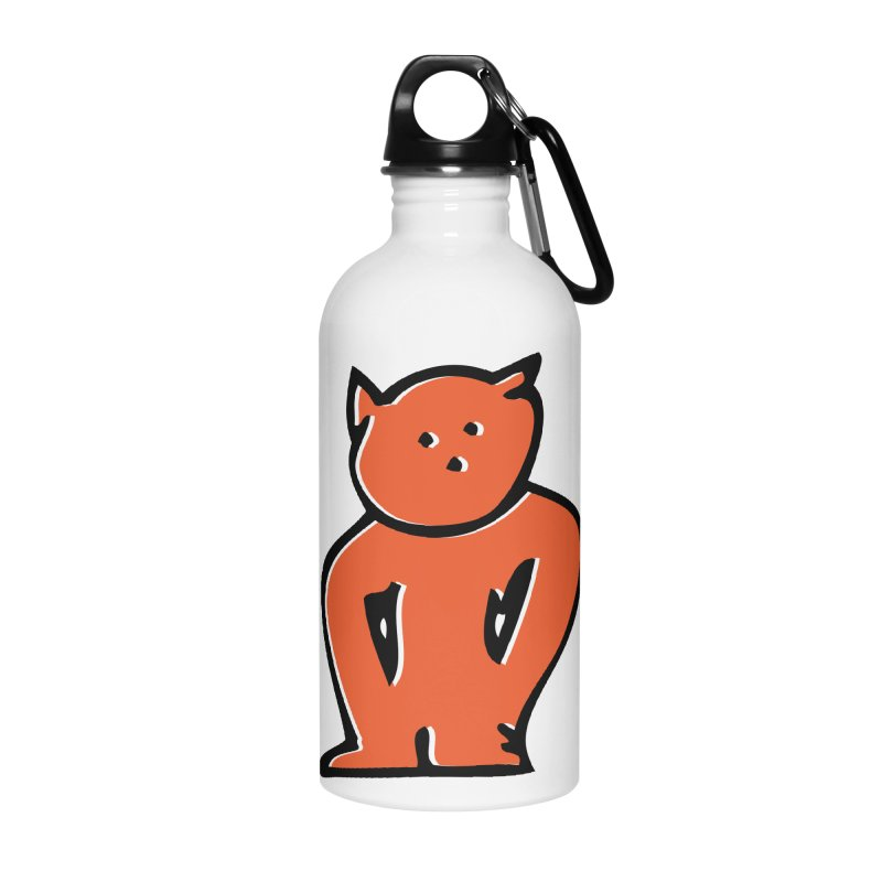 Dusty Cartoon Red Accessories Water Bottle by Doctacon's Artist Shop
